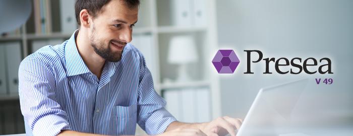 Ya se encuentra disponible la Versión número 49 de Presea ERP, que incorpora mejoras en los módulos de Ventas, Compras, Contabilidad, RRHH, Finanzas, Productos y Generalidades: