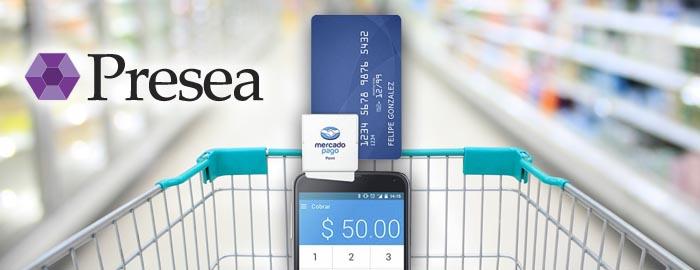 Presea ERP continua adecuándose a las tendencias del mercado: mediante el lector de bandas magnéticas los vendedores pueden realizar el cobro de un ticket utilizando el Point de Mercado Pago.